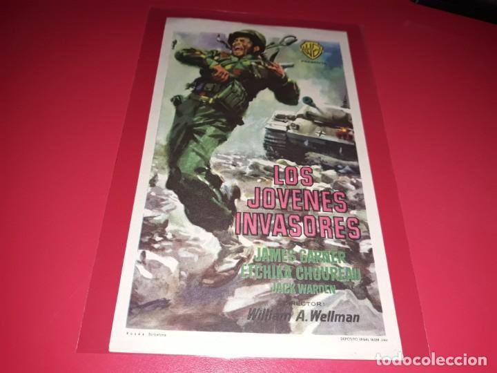 LOS JOVENES INVASORES. PUBLICIDAD AL DORSO. AÑO 1958. (Cine - Folletos de Mano - Bélicas)