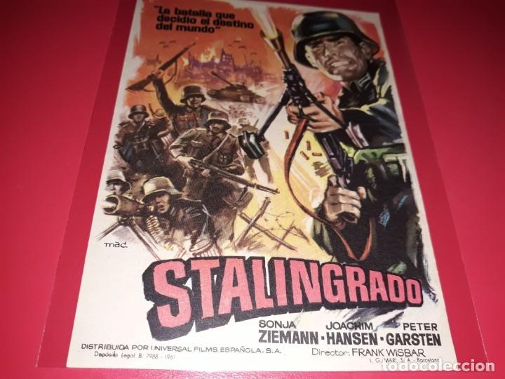 STALINGRADO. PUBLICIDAD AL DORSO. AÑO 1959. (Cine - Folletos de Mano - Bélicas)