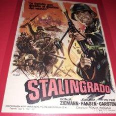 Cine: STALINGRADO. PUBLICIDAD AL DORSO. AÑO 1959.. Lote 194159626