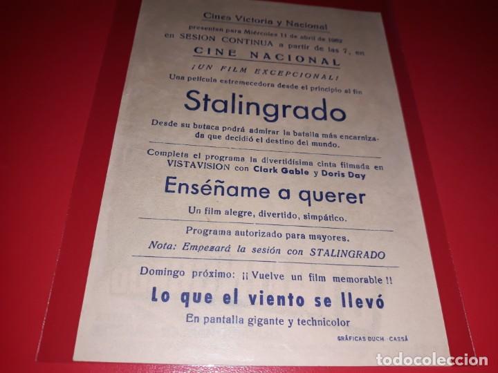 Cine: Stalingrado. Publicidad al dorso. Año 1959. - Foto 2 - 194159626