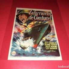 Cine: ZAFARRANCHO DE COMBATE. PUBLICIDAD AL DORSO. AÑO 1956.. Lote 194159728