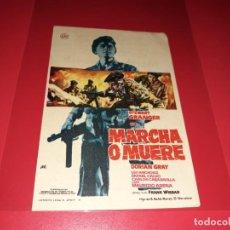 Cine: MARCHA O MUERTE CON STEWART GRANGER. PUBLICIDAD AL DORSO. AÑO 1962.. Lote 194160125
