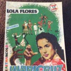 Foglietti di film di film antichi di cinema: FOLLETO DE MANO MARICRUZ. PUBLICIDAD CINE AVENIDA. MELILLA.. Lote 220781586