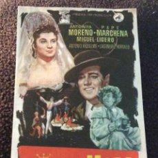 Cine: FOLLETO DE MANO LA REINA MORA. PUBLICIDAD CINE AVENIDA. MELILLA.. Lote 194177252