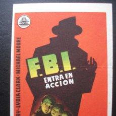 Cine: F.B.I. ENTRA EN ACCIÓN, GENE BARRY. Lote 194178633