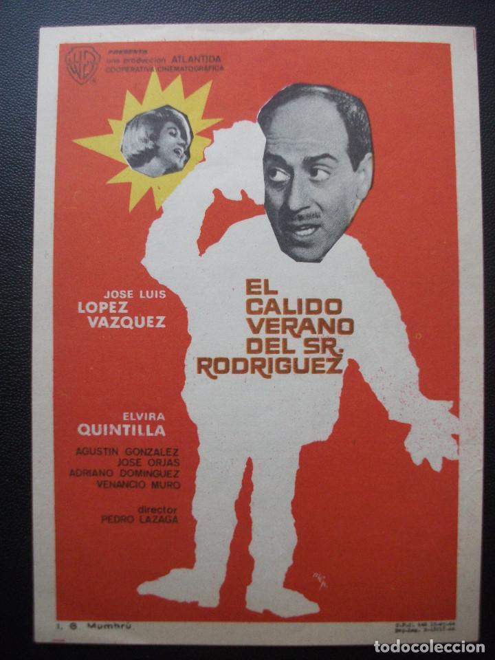 EL CÁLIDO VERANO DEL SR. RODRIGUEZ, JOSÉ LUIS LOPEZ VAZQUEZ (Cine - Folletos de Mano - Clásico Español)