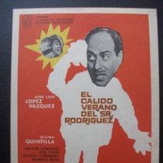 Cine: EL CÁLIDO VERANO DEL SR. RODRIGUEZ, JOSÉ LUIS LOPEZ VAZQUEZ. Lote 194181696