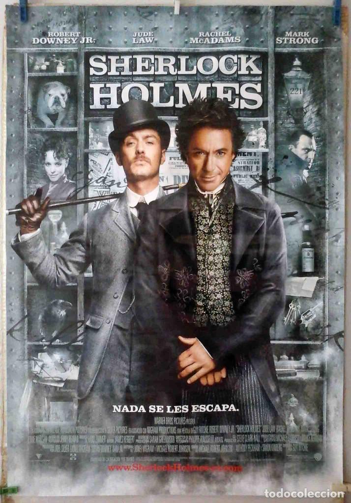 ORIGINALES DE CINE: SHERLOCK HOLMES (ROBERT DOWNEY JR, JUDE LAW) 70X100 CMS. EN ROLLO. (Cine - Folletos de Mano - Acción)