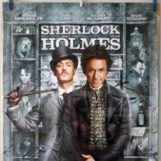 Cine: ORIGINALES DE CINE: SHERLOCK HOLMES (ROBERT DOWNEY JR, JUDE LAW) 70X100 CMS. EN ROLLO.. Lote 194192713