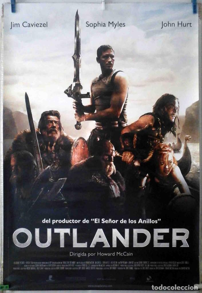 ORIGINALES DE CINE: OUTLANDER (JIM CAVIEZEL, SOPHIA MYLES, JOHN HURT) 70X100 CMS. EN ROLLO (Cine - Folletos de Mano - Acción)