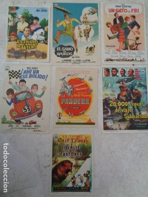 WALT DISNEY. LOTE 7 PELICULAS AÑOS 60. SIN PUBLICIDAD EN REVERSO (Cine - Folletos de Mano - Comedia)