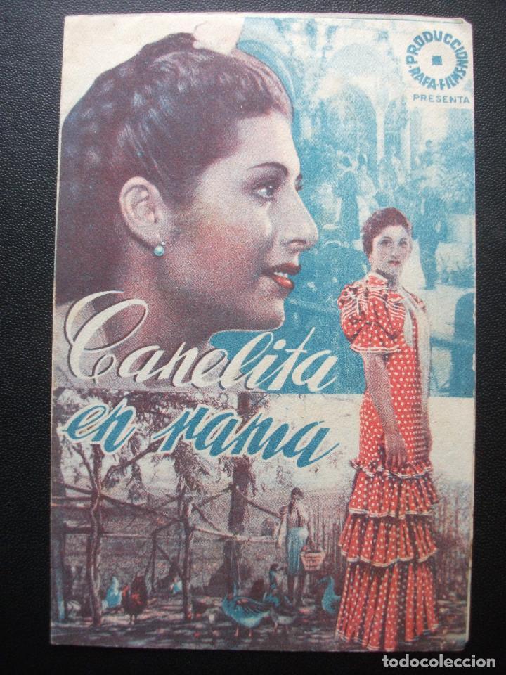 CANELITA EN RAMA, JUANITA REINA (Cine - Folletos de Mano - Clásico Español)