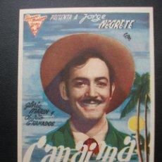 Cine: CANAIMA, JORGE NEGRETE. Lote 194214243