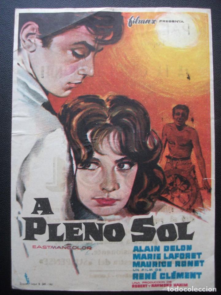 A PLENO SOL, ALAIN DELON, PALACIO ERISANA DE LUCENA (Cine - Folletos de Mano - Drama)
