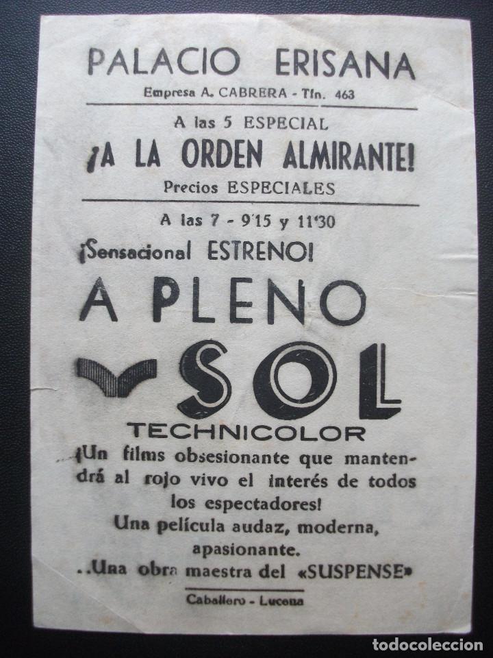Cine: A PLENO SOL, ALAIN DELON, PALACIO ERISANA DE LUCENA - Foto 2 - 194214383