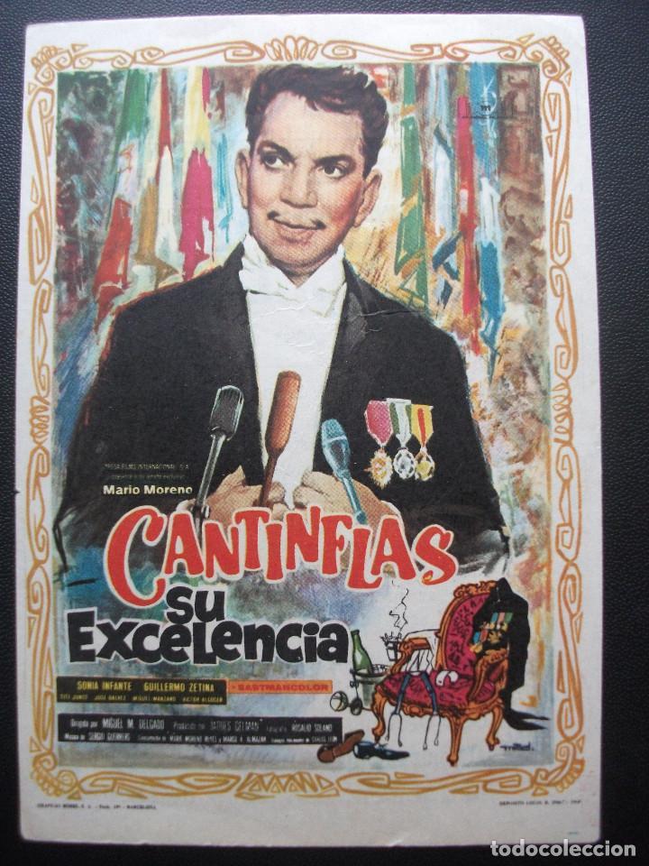 SU EXCELENCIA, CANTINFLAS, CINE AVENIDA DE ALICANTE, 1968 (Cine - Folletos de Mano - Comedia)