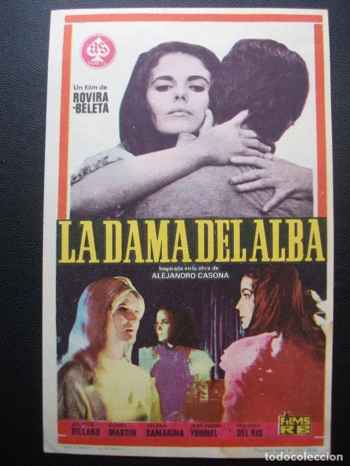 LA DAMA DEL ALBA, DOLORES DEL RIO (Cine - Folletos de Mano - Clásico Español)