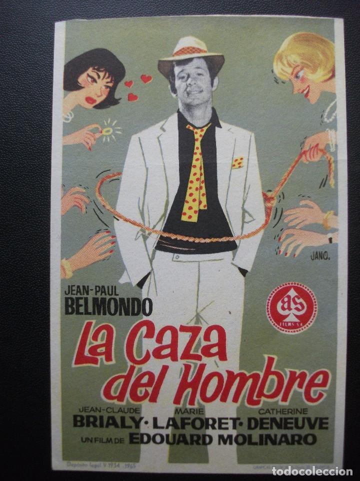 LA CAZA DEL HOMBRE, JEAN PAUL BELMONDO (Cine - Folletos de Mano - Acción)
