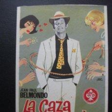 Cine: LA CAZA DEL HOMBRE, JEAN PAUL BELMONDO. Lote 194215422