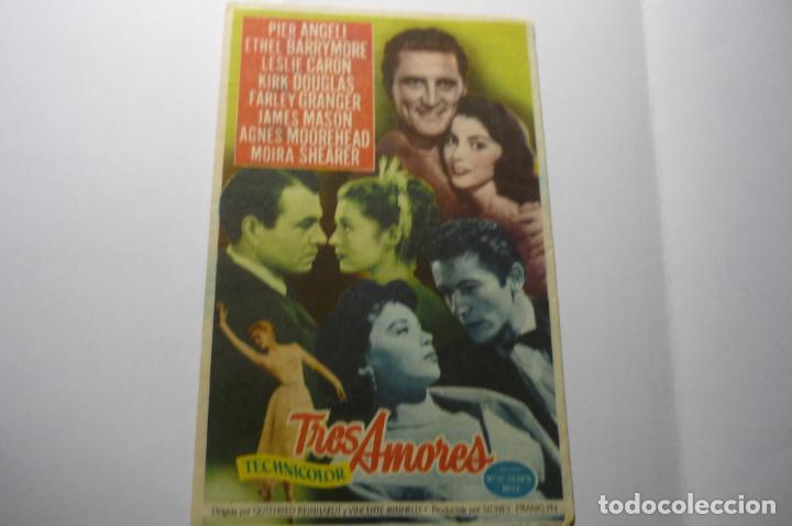 PROGRAMA TRES AMORES- KIRK DOUGLAS PUBLICIDAD (Cine - Folletos de Mano - Comedia)