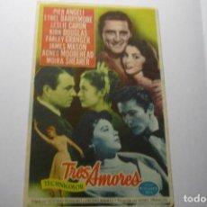 Cine: PROGRAMA TRES AMORES- KIRK DOUGLAS PUBLICIDAD. Lote 194244641