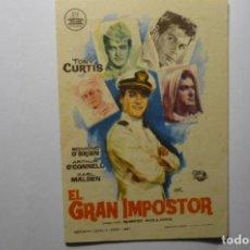 Cine: PROGRAMA EL GRAN IMPOSTOR- TONY CURTIS PUBLICIDAD. Lote 194244852