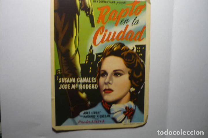 PROGRAMA RAPTO EN LA CIUDAD.- SUSANA CANALES (Cine - Folletos de Mano - Clásico Español)