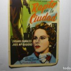 Cine: PROGRAMA RAPTO EN LA CIUDAD.- SUSANA CANALES. Lote 194244986