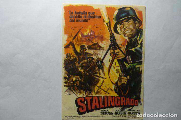 PROGRAMA STALINGRADO .-PUBLICIDAD (Cine - Folletos de Mano - Bélicas)