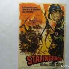 Cine: PROGRAMA STALINGRADO .-PUBLICIDAD . Lote 194246237