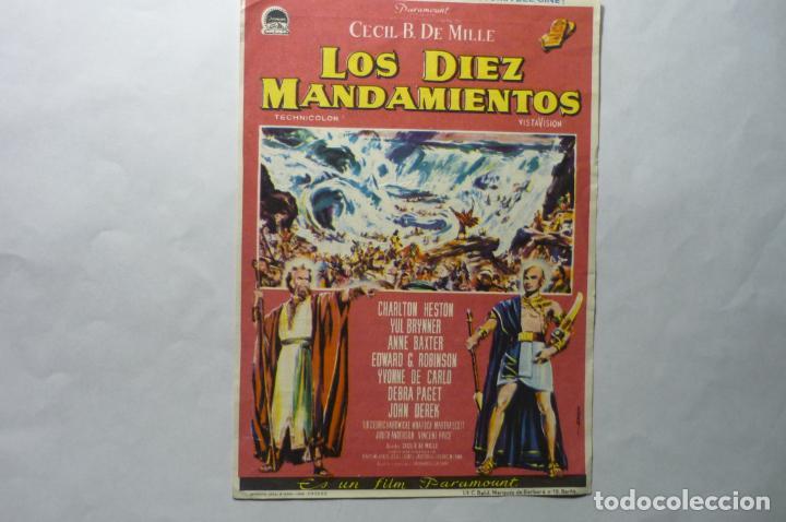 PROGRAMA LOS DIEZ MANDAMIENTOS CHARLTON HESTON - PUBLICIDAD (Cine - Folletos de Mano - Drama)