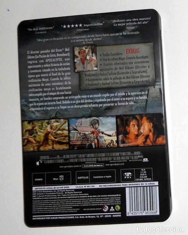 Cine: PELÍCULA DVD EDICIÓN ESPECIAL CAJA METÁLICA - APOCALYPTO - MEL GIBSON - EXTRAS - Foto 2 - 194298267