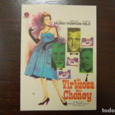 Cine: LA VIRTUOSA MRS CHENEY -CINEMA CAPITOL ALICANTE- NOVIEMBRE 1965. Lote 194300662