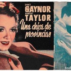 Cine: UNA CHICA DE PROVINCIAS - JANET GAYNOR - ROBERT TAYLOR. Lote 194309341