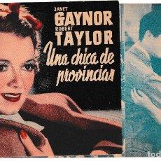 Cine: UNA CHICA DE PROVINCIAS - JANET GAYNOR - ROBERT TAYLOR. Lote 194309602