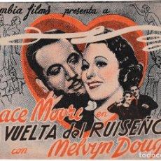 Cine: LA VUELTA DEL RUISEÑOR - GRACE MOORE - MELVYN DOUGLAS. Lote 194311110