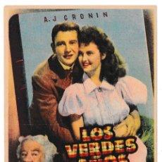 Cine: LOS VERDES AÑOS - CINE PADRÓ - CORNELLÁ 1952. Lote 194312470