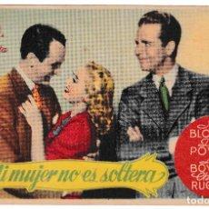 Cine: MI MUJER ES SOLTERA - JOAN BLONDELL - DICK POWELL - CINE PARAISO EMPORIUM 1945. Lote 194315266