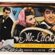 Cine: MR LUCKY - LARAINE DAY - CARY GRANT - CINE RAMBLAS 1946. Lote 194315735