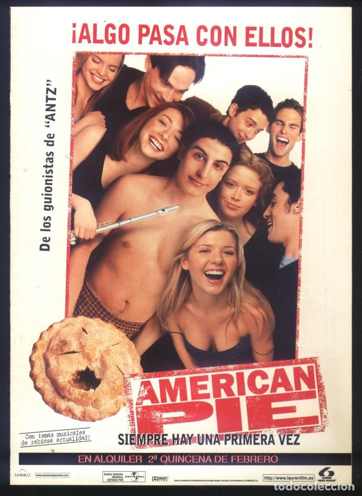 P-8606- AMERICAN PIE (DOBLE) JASON BIGGS - CHRIS KLEIN - THOMAS IAN NICHOLAS (Cine - Folletos de Mano - Comedia)