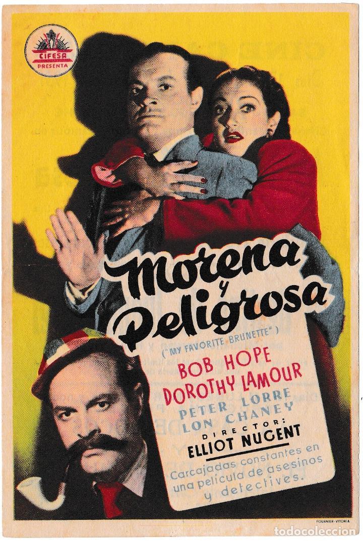 MORENA Y PELIGROSA - DOROTHY LAMOUR - BOB HOPE - CINE CAPITOLIO 1951 (Cine - Folletos de Mano - Comedia)