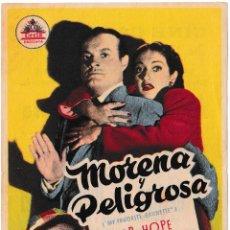 Cine: MORENA Y PELIGROSA - DOROTHY LAMOUR - BOB HOPE - CINE CAPITOLIO 1951. Lote 194318616