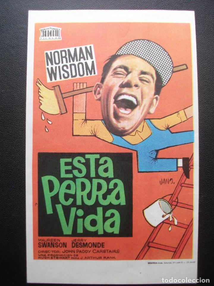 ESTA PERRA VIDA, NORMAN WISDOM (Cine - Folletos de Mano - Comedia)