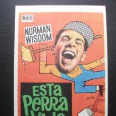 Cine: ESTA PERRA VIDA, NORMAN WISDOM. Lote 194325097