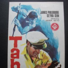 Cine: TABÚ, JAMES PHILBROOK, TEATRO ULTIONA DE GERONA. Lote 194325920