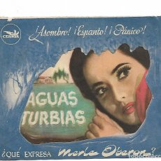 Cine: AGUAS TURBIAS. Lote 194330993