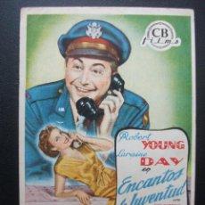 Cine: ENCANTOS DE JUVENTUD, ROBERT YOUNG. Lote 194332536