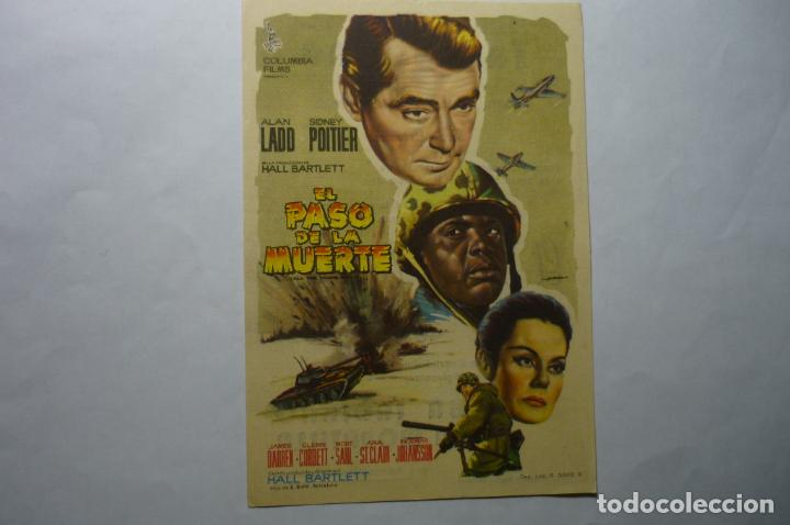 PROGRAMA EL PASO DE LA MUERTE ALAN LADD.- PUBLICIDAD (Cine - Folletos de Mano - Bélicas)