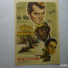 Cine: PROGRAMA EL PASO DE LA MUERTE ALAN LADD.- PUBLICIDAD. Lote 194343148