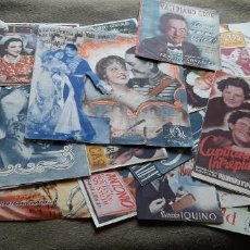Cine: LOTE CON 25 PROGRAMAS DE MANO TODOS MENOS 3 TIENE PUBLICIDAD TRASERA. Lote 194365493